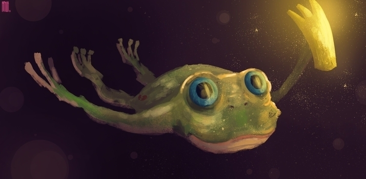 illustration, frog, fantasy, digitalart - arthurahoy | ello