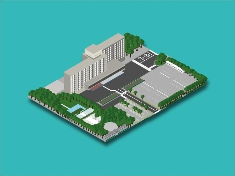 Tokyo Prince Hotel - isometric - sophierousseau | ello