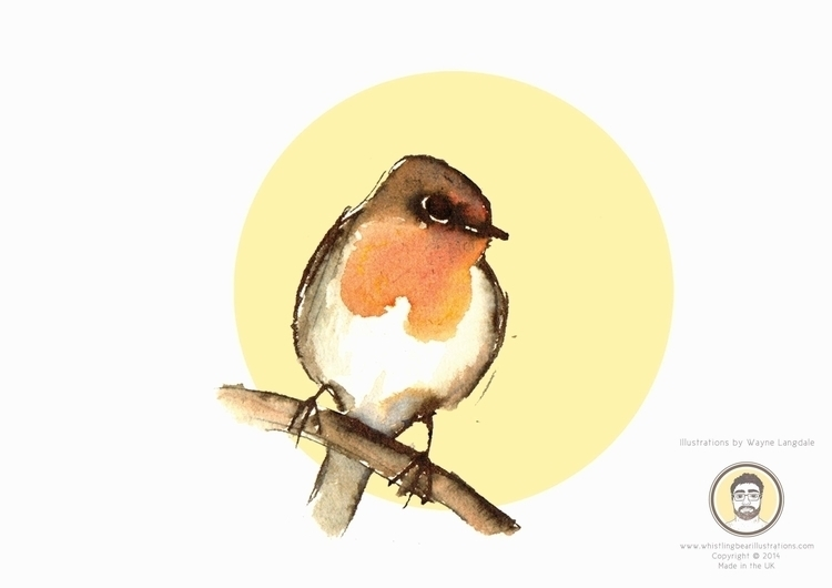 Robin Birds project created ink - whistlingbear | ello