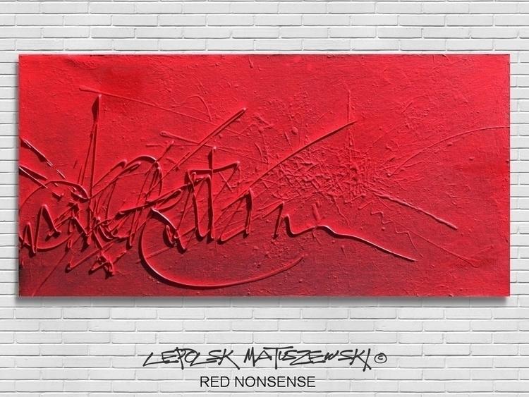 RED NONSENSE LEPOLSK 100x 50 cm - lepolsk-1257 | ello
