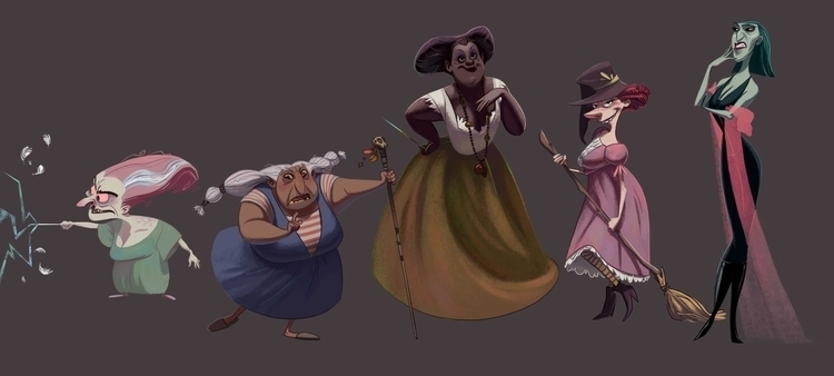 witches - characterdesign - carrececile | ello