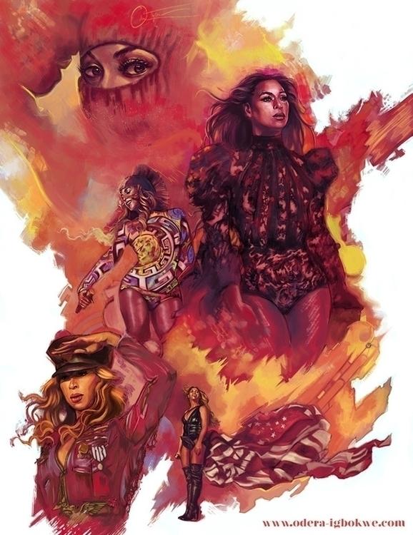 Beyonce Run - illustration, commission - odera | ello