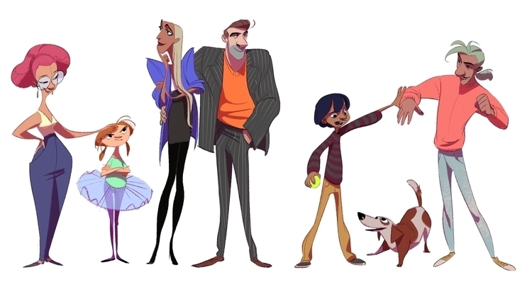 Family - family, characterdesign - carrececile | ello
