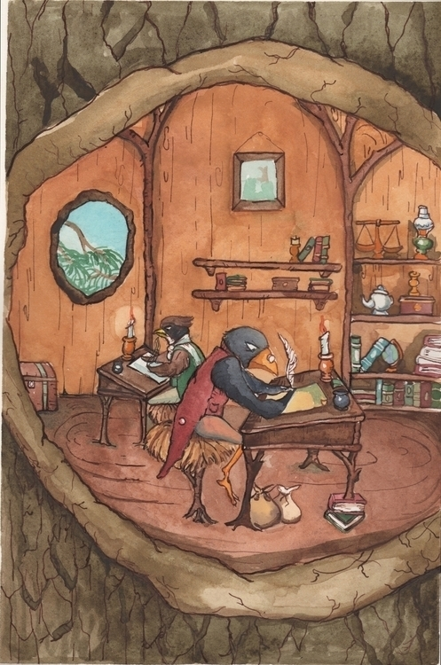 Scrooge Cratchit work - #watercolor#childrens#book#kid - katie_wools   ello