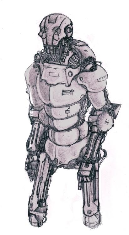 Worker Droid - characterdesign, illustration - bryanmahy | ello
