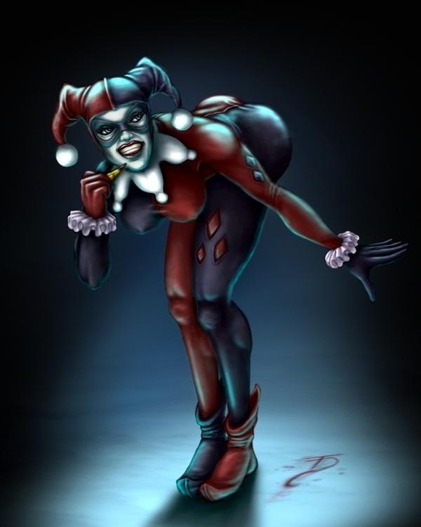 Harley Quinn Painting - harleyquinn - tomdalston | ello