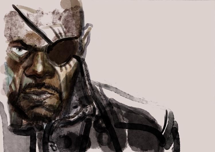 Fury - illustration, digitalart - danieleafferni | ello