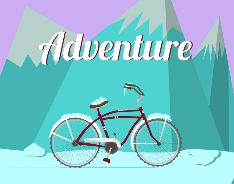 Bicycle Adventure Winter - illustration - miles-4949 | ello
