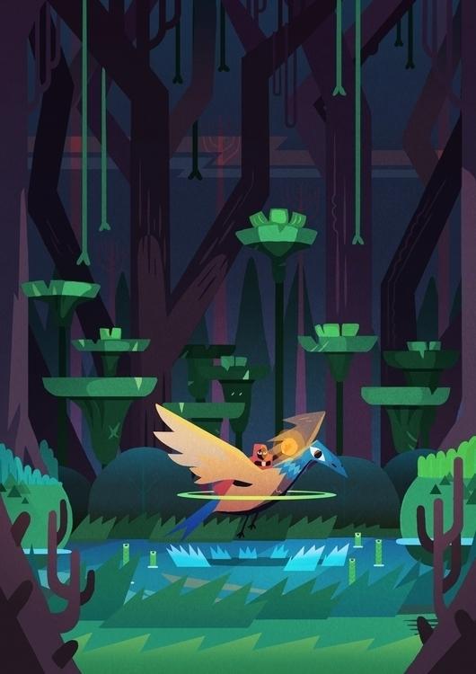 Jungle Poster - maxencehenry, nantes - maxencehenry | ello