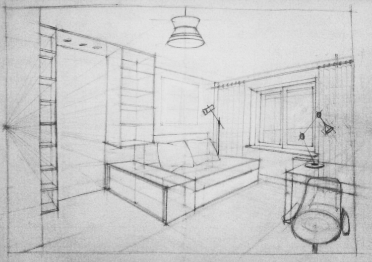 architecture, sketch, interiordesign - pangeniy | ello