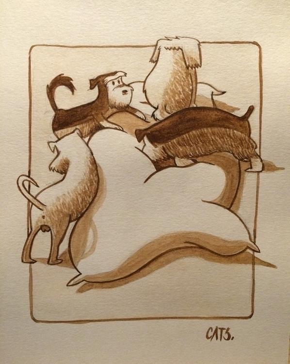 watercolour, painting, illustration - cat-8775 | ello