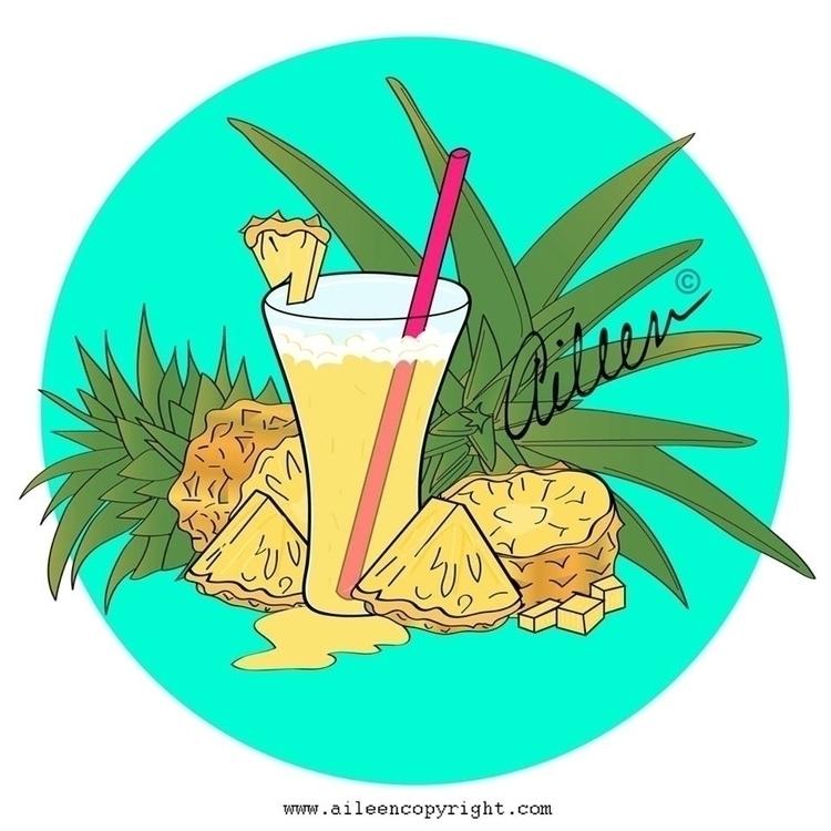 Jugo de Piña / Pineapple Juice  - aileencopyright | ello