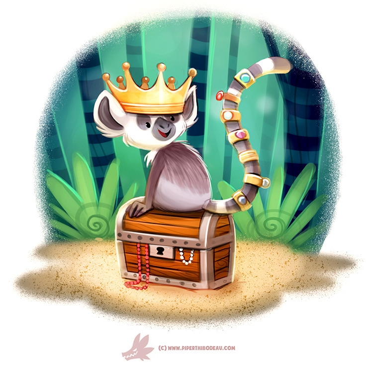 Daily Paint Ring Tail Lemur - 1209. - piperthibodeau | ello