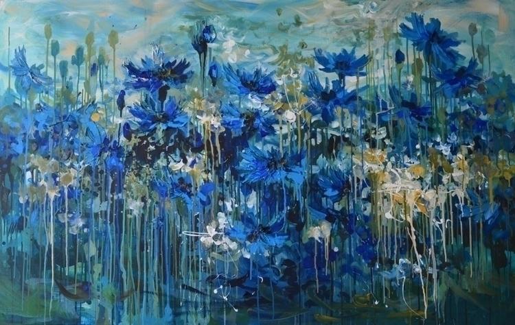 Cornflowers. 100x160 cm. Acryli - tanya_vasilenko | ello