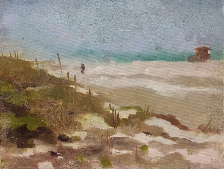 Day Beach - painting, oilpainting - vshek | ello