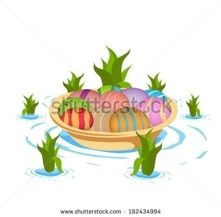 Boat carrying eggs - illustration - ngocdai86 | ello
