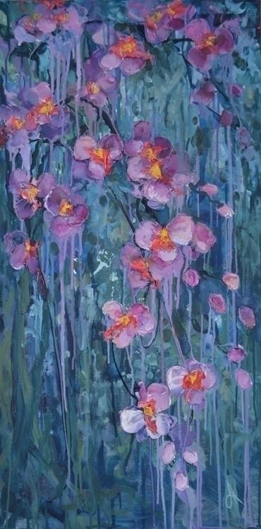 Orchid. 100x50. Acrylic ?anvas - tanya_vasilenko | ello