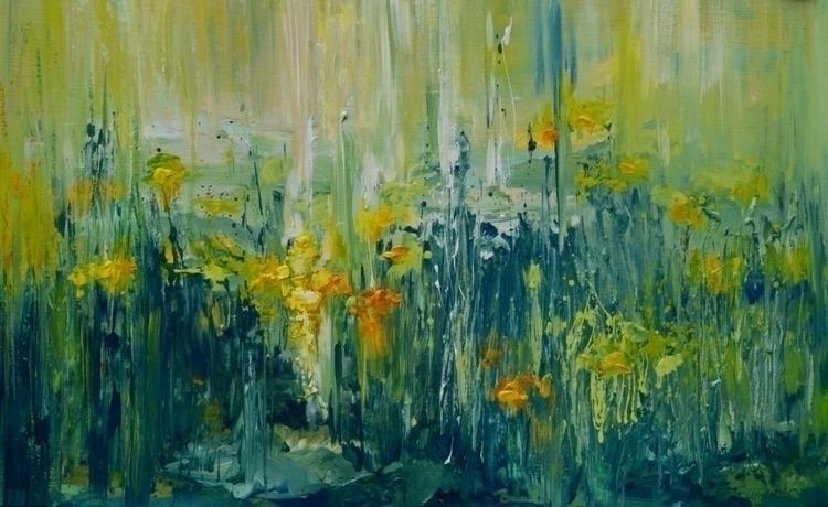Dandelions. 130x80. Acrylic can - tanya_vasilenko | ello