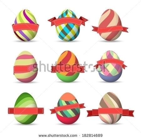 Set Colored Easter Eggs labels - ngocdai86 | ello