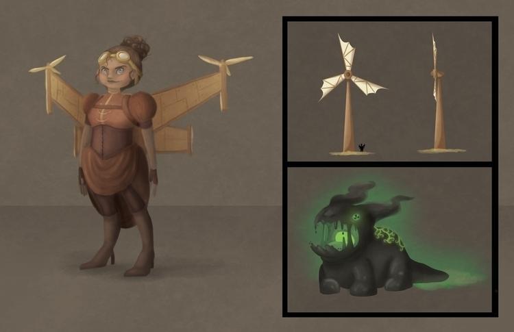 conceptart, gameart, characterdesign - hannahspangler | ello