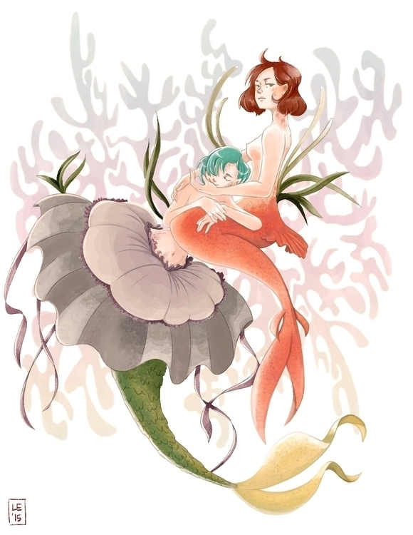 Mermaids - illustration, painting - jayoh28 | ello