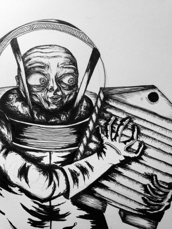 Lonely Bee Keeper - illustration - creepylauren   ello