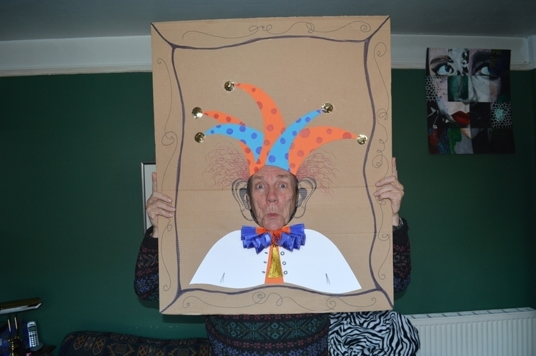 cardboard, clown, cutout, interactiveart - alicebruce | ello