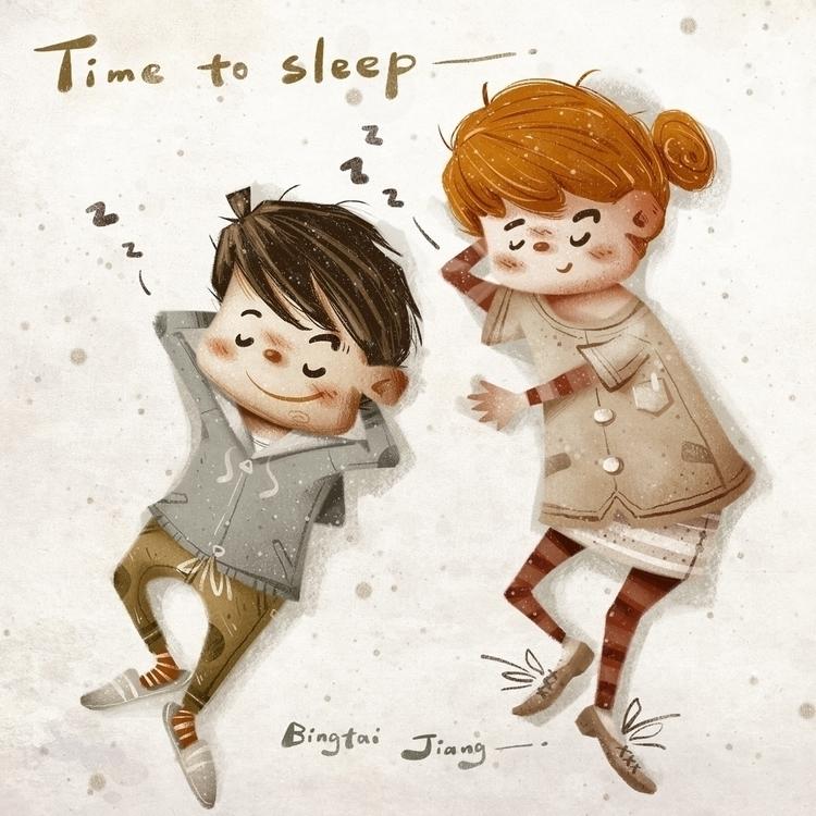 Time sleep - illustration, characterdesign - bingtai   ello