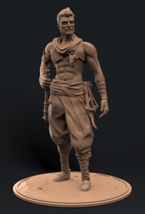 Sinbad - art, digitalart, character - duncan_foster | ello