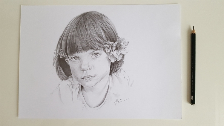 Portrait Girl | Pencil, A4 Janu - fallydesign | ello