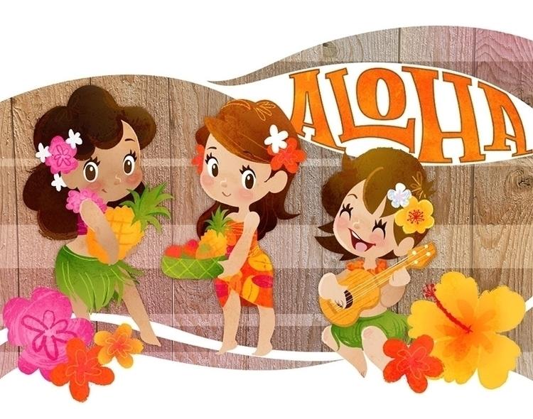 Tropical girls - hula, tropical - katuno   ello