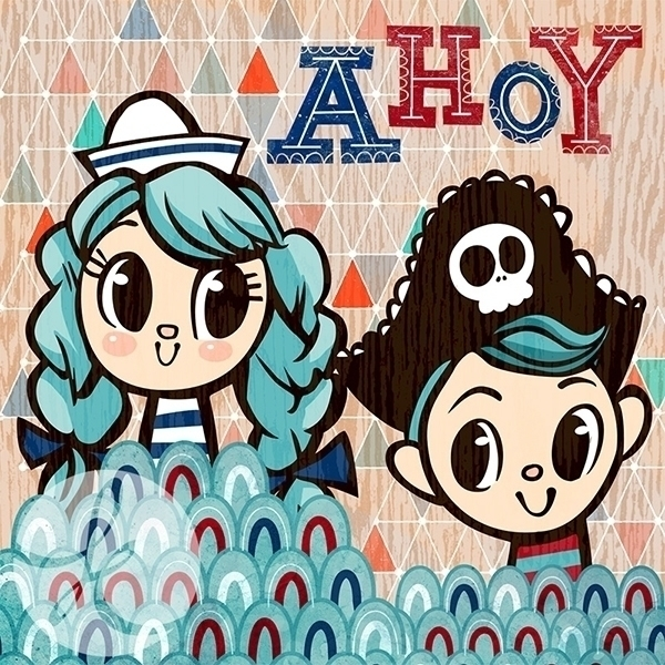 Ahoy - cute, sailor, pirate, fun - katuno | ello