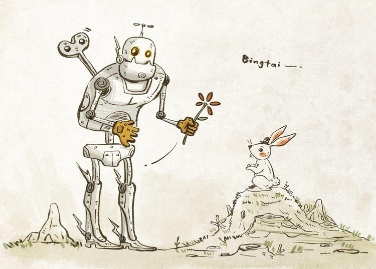 Love sight - love, flower, illustration - bingtai | ello