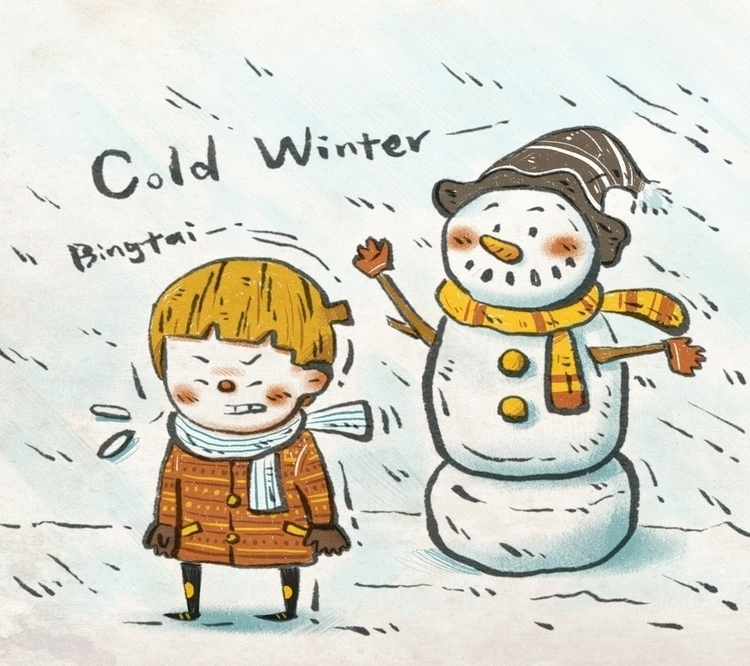 Cold ...snowman - illustration - bingtai | ello