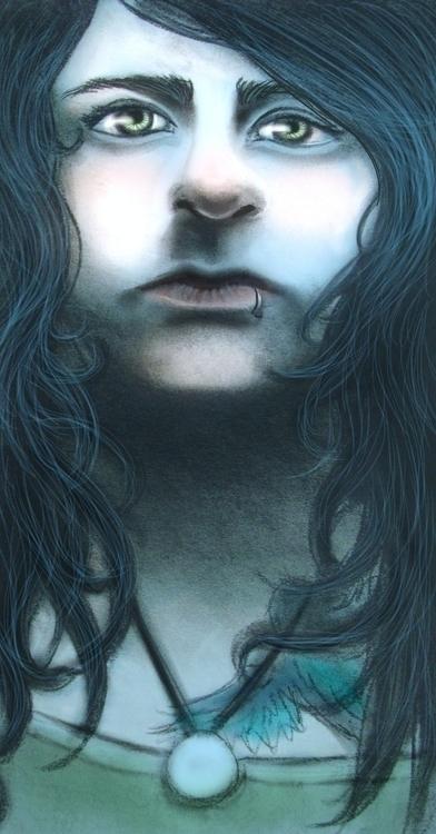 illustration, portrait, mixedmedia - cervidae-1054 | ello
