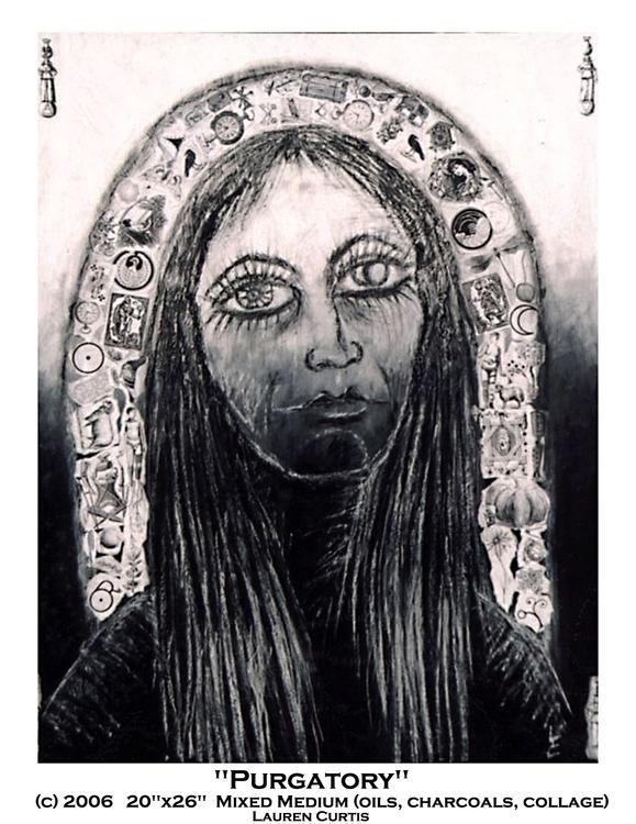 Purgatory, mixed media painting - laurencurtis | ello