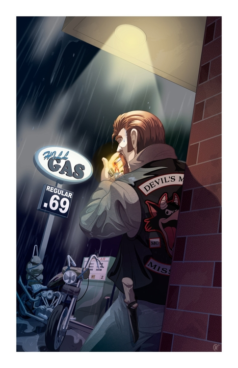 Caught rain Created Adobe Illus - universek-1349 | ello