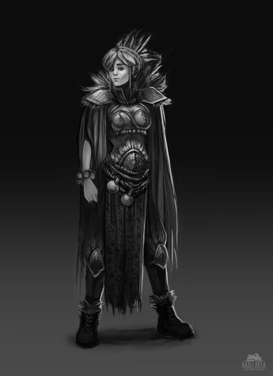 Shaman concept  - characterdesign - mallaria | ello