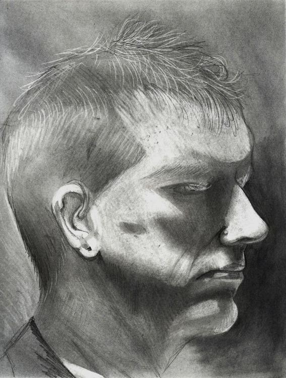 portrait, graphite, study - cervidae-1054   ello