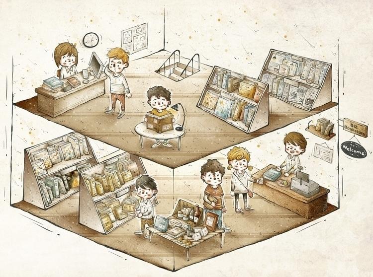 book art work - illustration, artwork - bingtai | ello