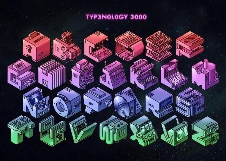 typography, illustration, typenology300 - outline   ello
