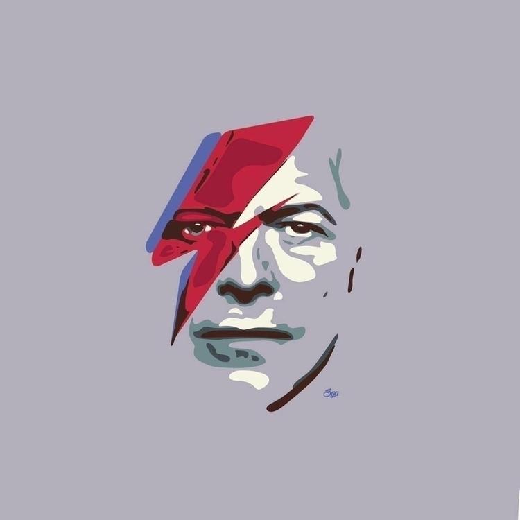 Hero - davidbowie, rockstar, music - sga-2444 | ello