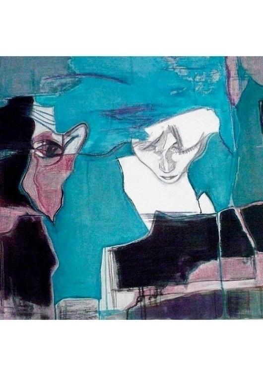 Face 2-60x60cm-700usd - painting - gdlynnosman | ello