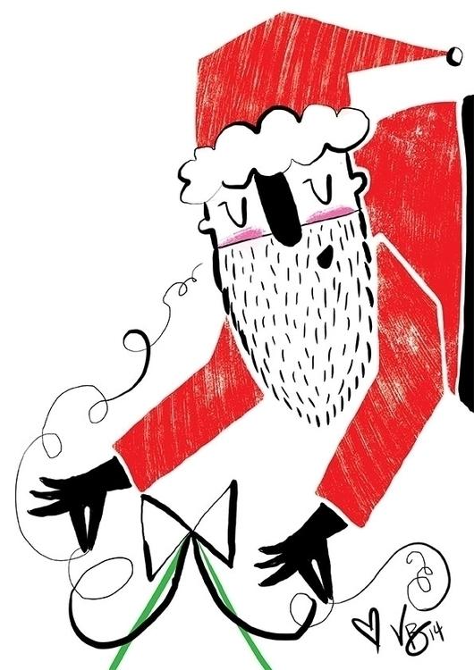 santa, cintiq, christmas, personal - vickydoodles-4070 | ello