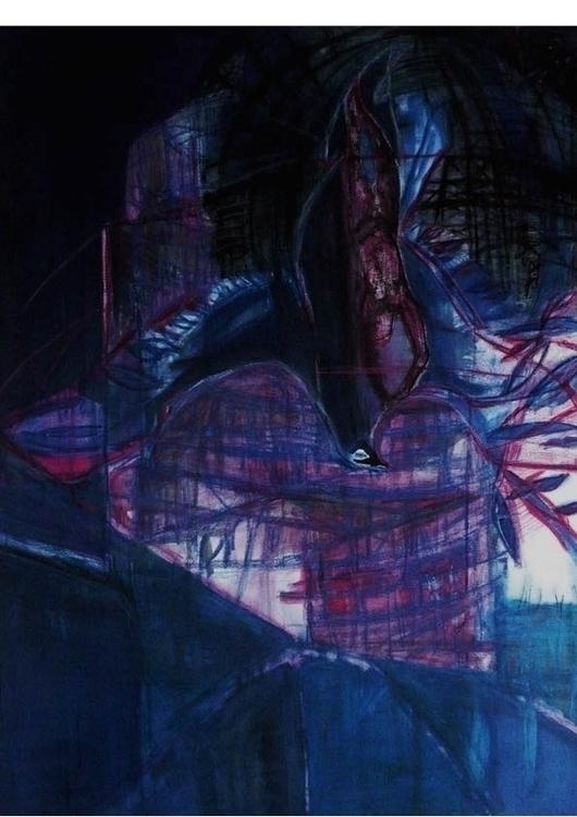 Icarus fall 2-70x100cm-600usd - painting - gdlynnosman | ello
