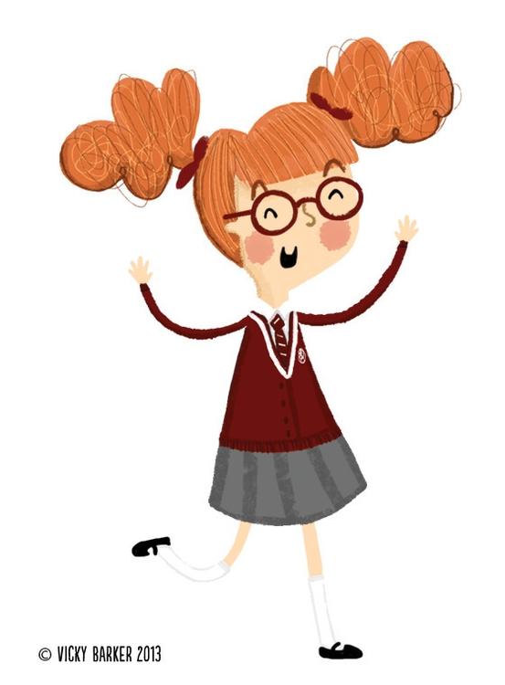 girl, characterdesign, school - vickydoodles-4070 | ello