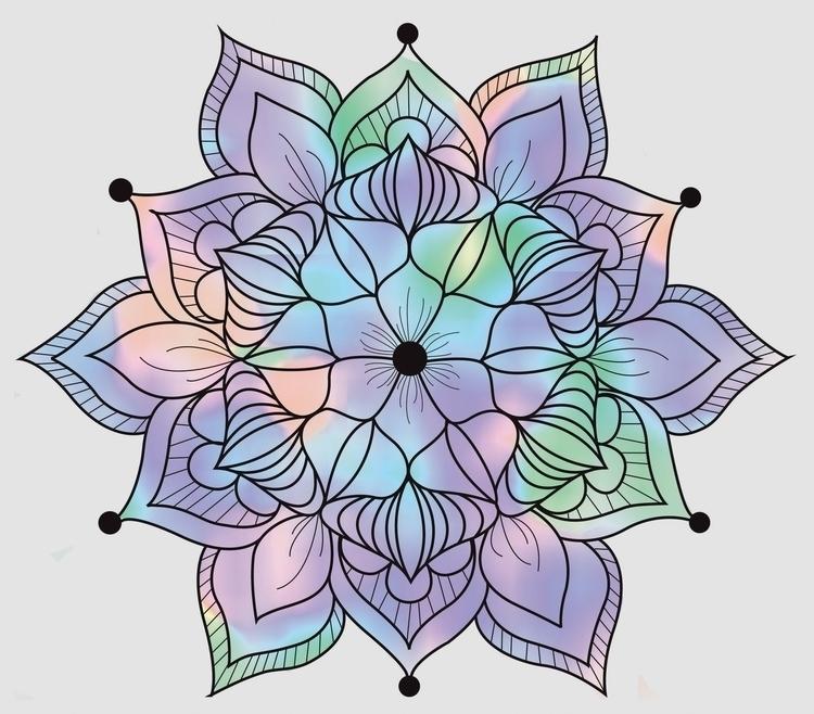 mandala, digitalart - ashleyr-6440 | ello
