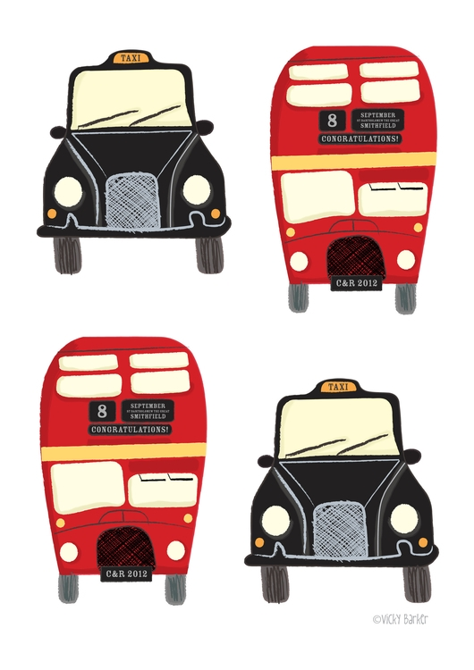 bus, taxi, london, pattern, personal - vickydoodles-4070 | ello