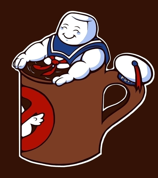 Hot Cup State Puft - ghostbusters - jellysoupstudios | ello