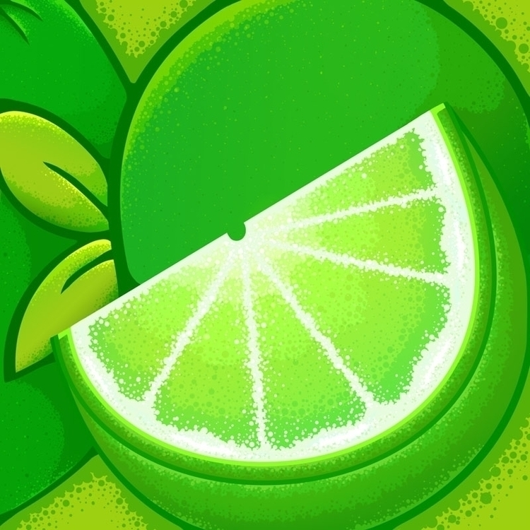 lime alittle tart - green, food - jellysoupstudios | ello